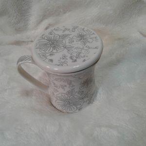 Teavana tea cup/ coffee mug with strainer and cover